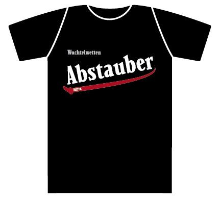 Wuchtelwetten T-Shirt Abstauber schwarz