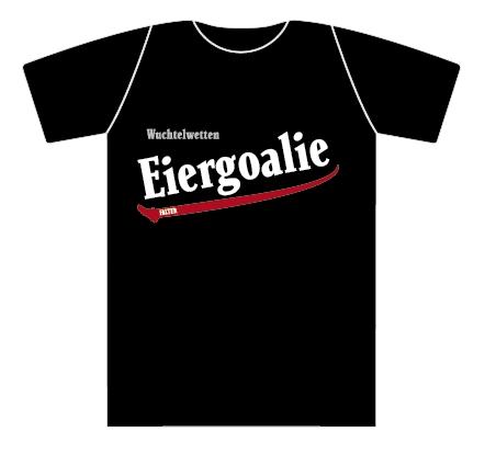 Wuchtelwetten T-Shirt Eiergoalie schwarz