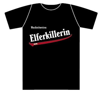 Wuchtelwetten T-Shirt Elferkiller schwarz