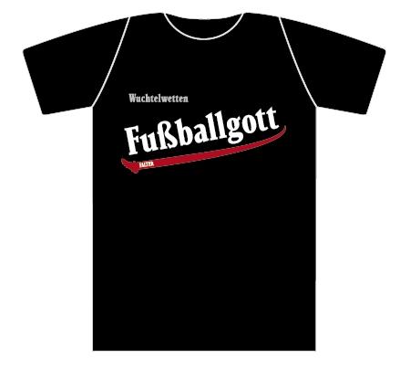 Wuchtelwetten T-Shirt Fußballgott schwarz