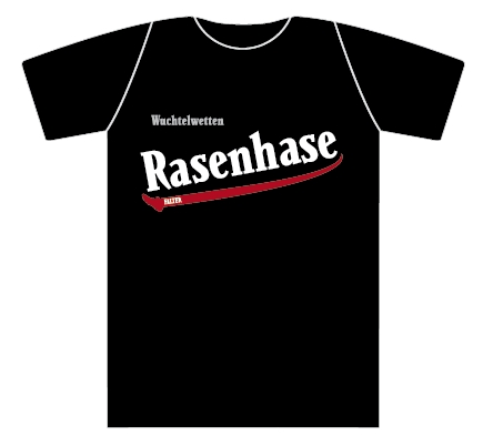 Wuchtelwetten T-Shirt Rasenhase schwarz