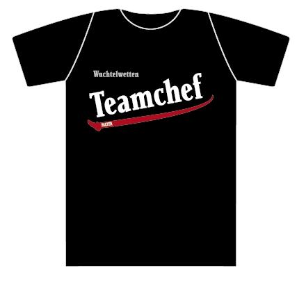 Wuchtelwetten T-Shirt Teamchef schwarz