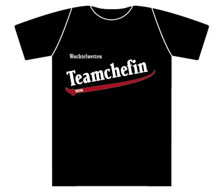 Wuchtelwetten T-Shirt Teamchefin schwarz